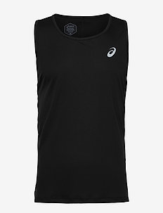 SILVER SINGLET - PERFORMANCE BLACK