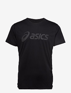 SILVER ASICS TOP - PERFORMANCE BLACK / DARK GREY
