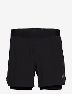 ROAD 2-N-1 5IN SHORT - PERFORMANCE BLACK