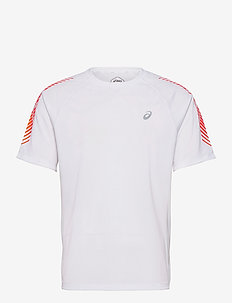 ICON SS TOP - topy sportowe - brilliant white/flash coral