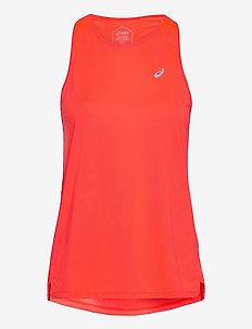 RACE SLEEVELESS - tank tops - flash coral