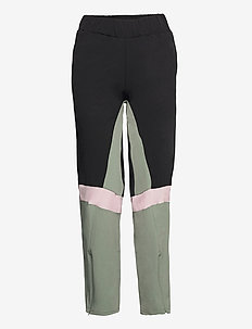 TRACK PANT - sportbukser - performance black/lichen green
