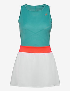 TENNIS W DRESS - sports dresses - techno cyan