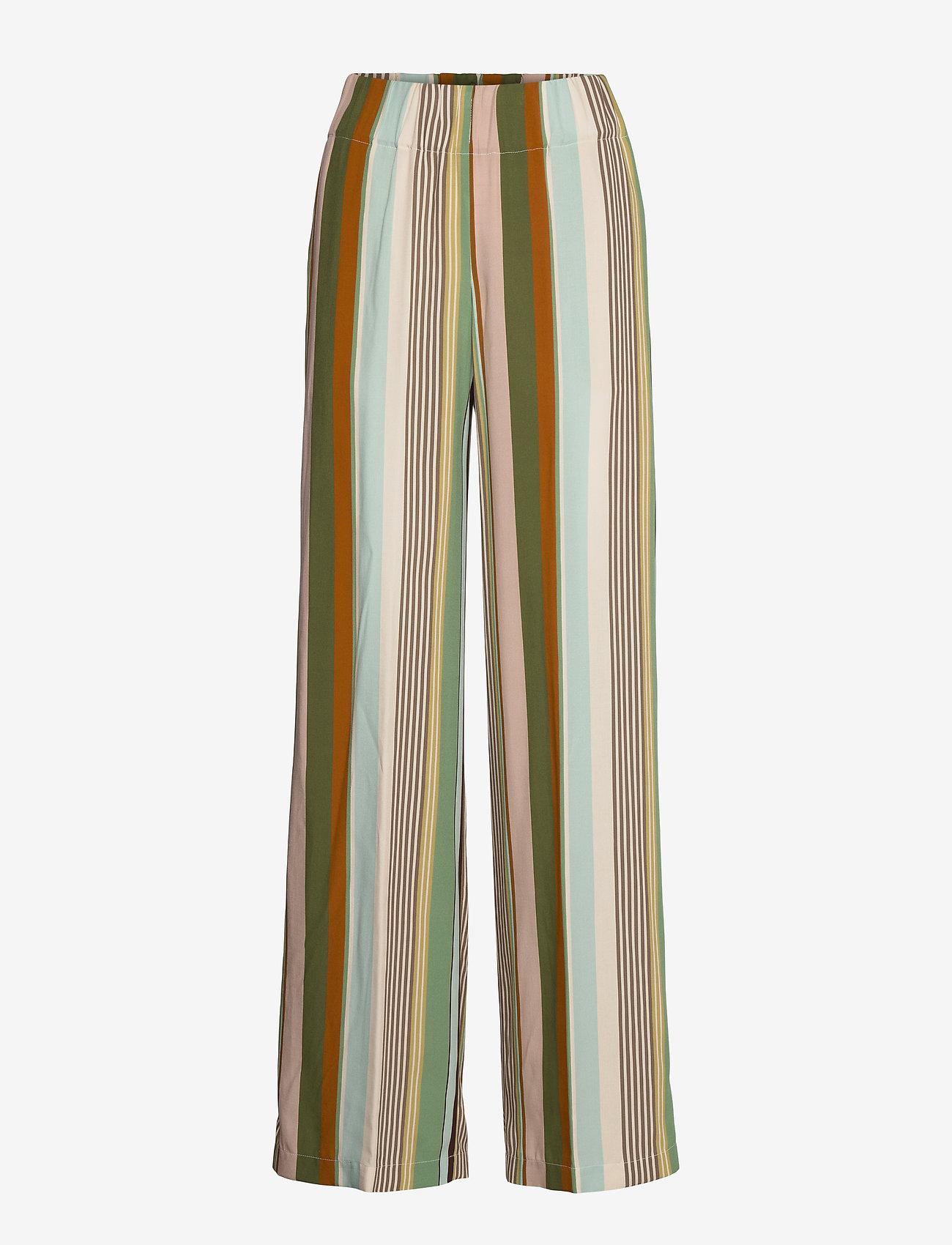 Aspesi - PANTALONE MOD.0112 - bukser med brede ben - multi righe - 0