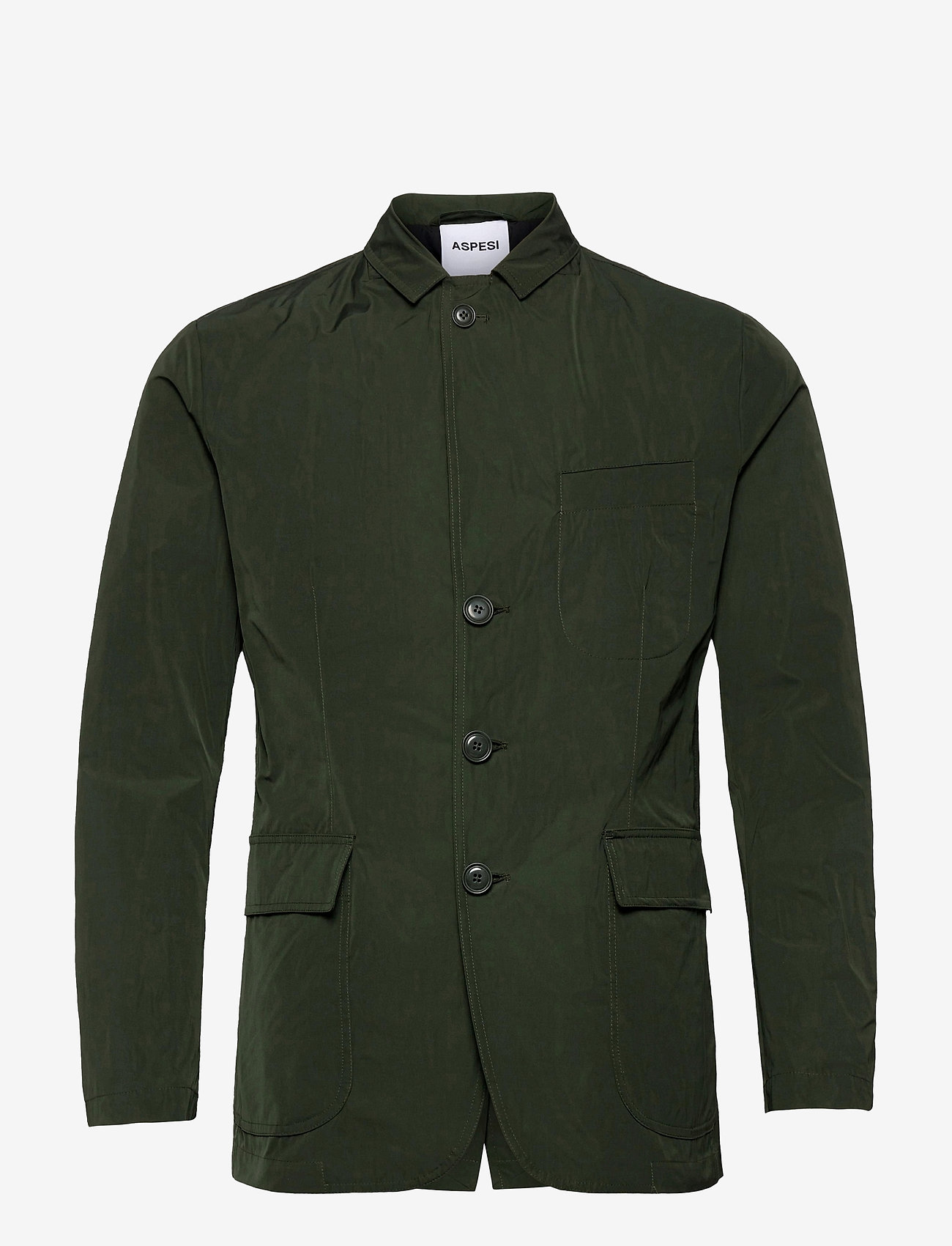 Aspesi - GIACCA SAMU - single breasted blazers - verde - 1