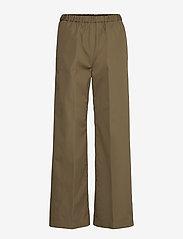 Aspesi - PANTALONE MOD.H128 - bukser med brede ben - militare - 0