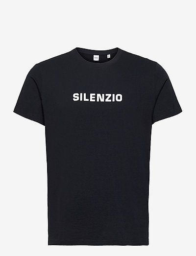 T-SHIRT SILENZIO - kortärmade t-shirts - navy
