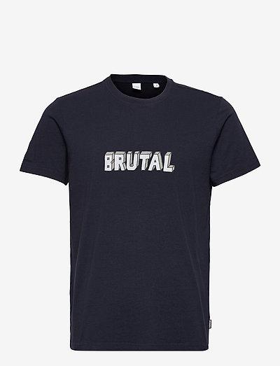 T-SHIRT BRUTAL - t-shirts - navy
