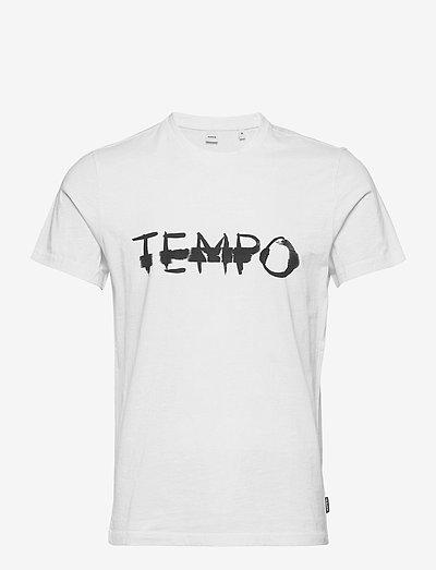 T-SHIRT TEMPO - kortärmade t-shirts - bianco