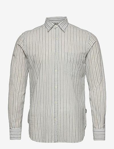 CAMICIA RIDOTTA II - linen shirts - microriga blu