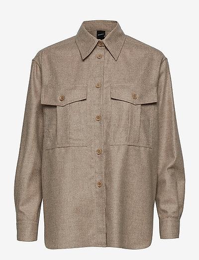 CAMICIA MOD.5414 - jeansskjortor - beige