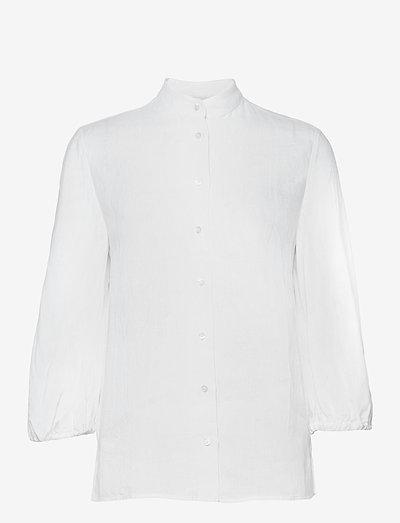 CAMICIA MOD.H707 - langærmede bluser - bianco