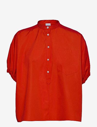 CAMICIA MOD.H712 - kortærmede bluser - vermiglione