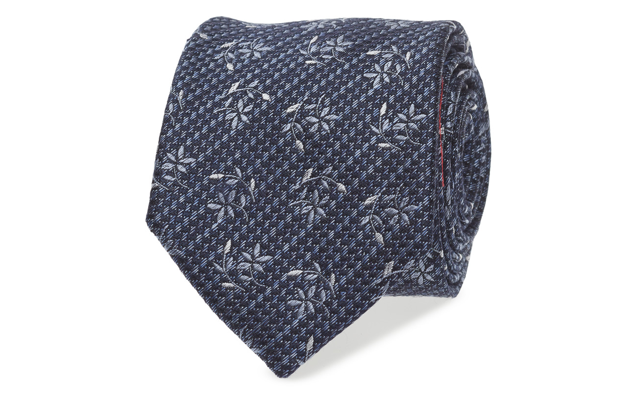 ATLAS DESIGN TIE LINEN FLOWER - NAVY