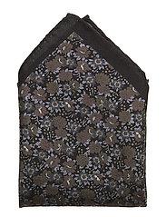 HANKY MULTI FLOWER - BLACK