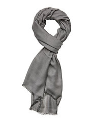 SCARF WOVEN SOLID - STEEL GREY