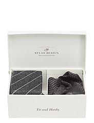 GIFT BOX TIE & HANKY - BLACK
