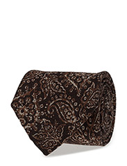 TIE PAISLEY NAVY LINE, BROWN - BROWN