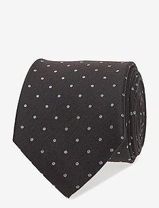 TIE DOTS MATT - BLACK