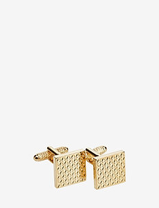 CUFFLINKS SQUARED PATTERN - GOLD