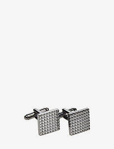 CUFFLINKS SQUARED PATTERN - ANTRACITE