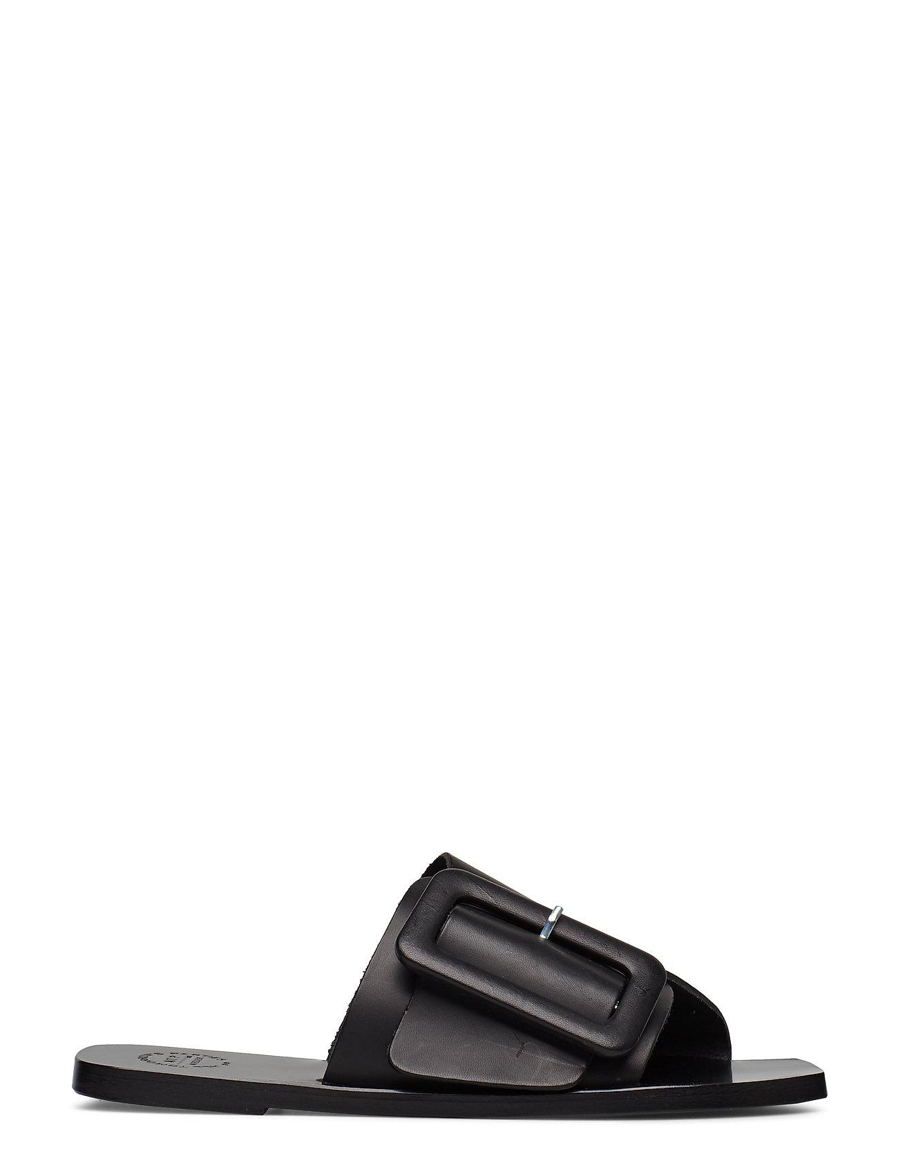 ATP Atelier - Ceci Black Vacchetta - płaskie sandały - black - 1