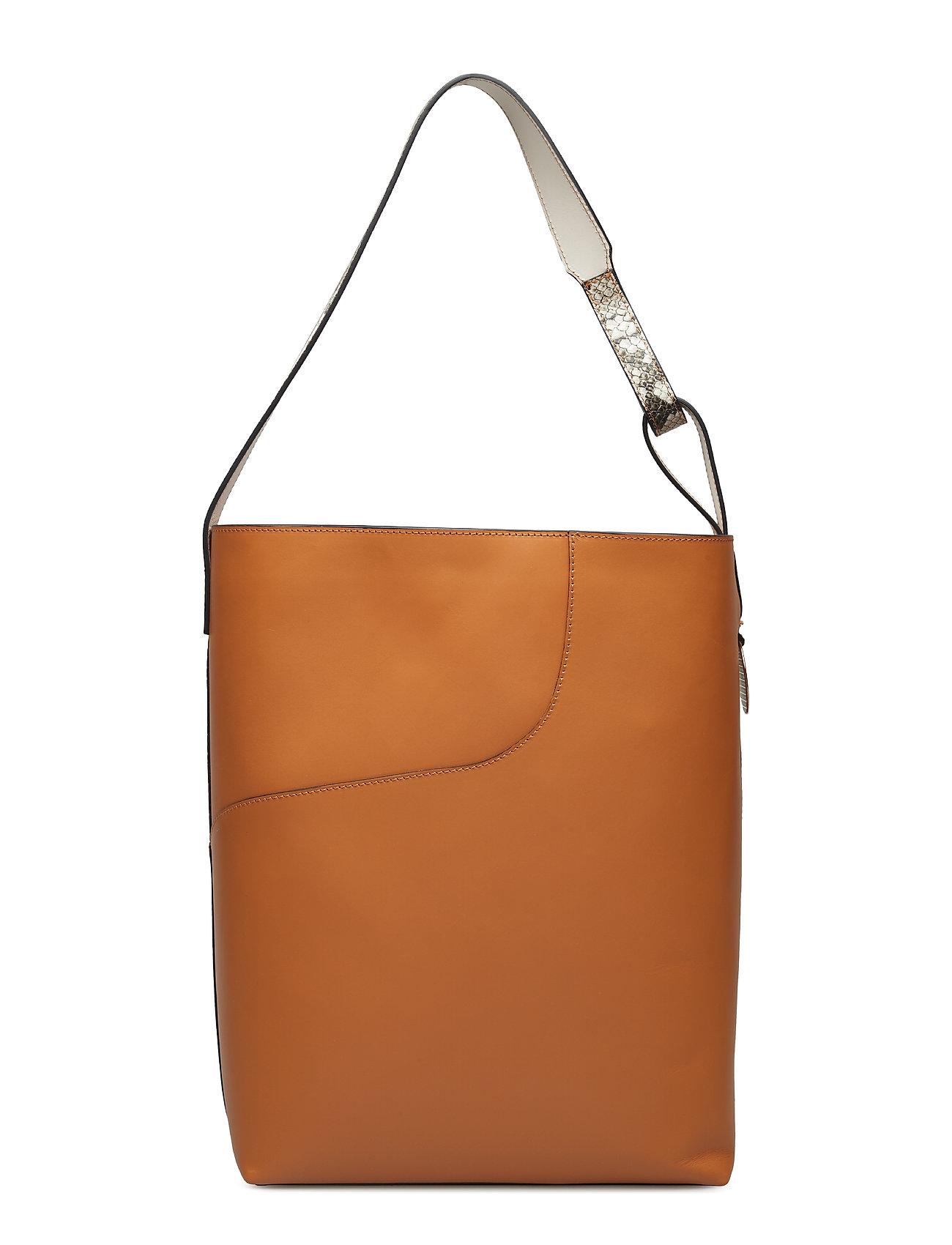 Pienza TerraGreyIce White VacchettaPrinted Bags Shoppers Fashion Shoppers Orange ATP ATELIER