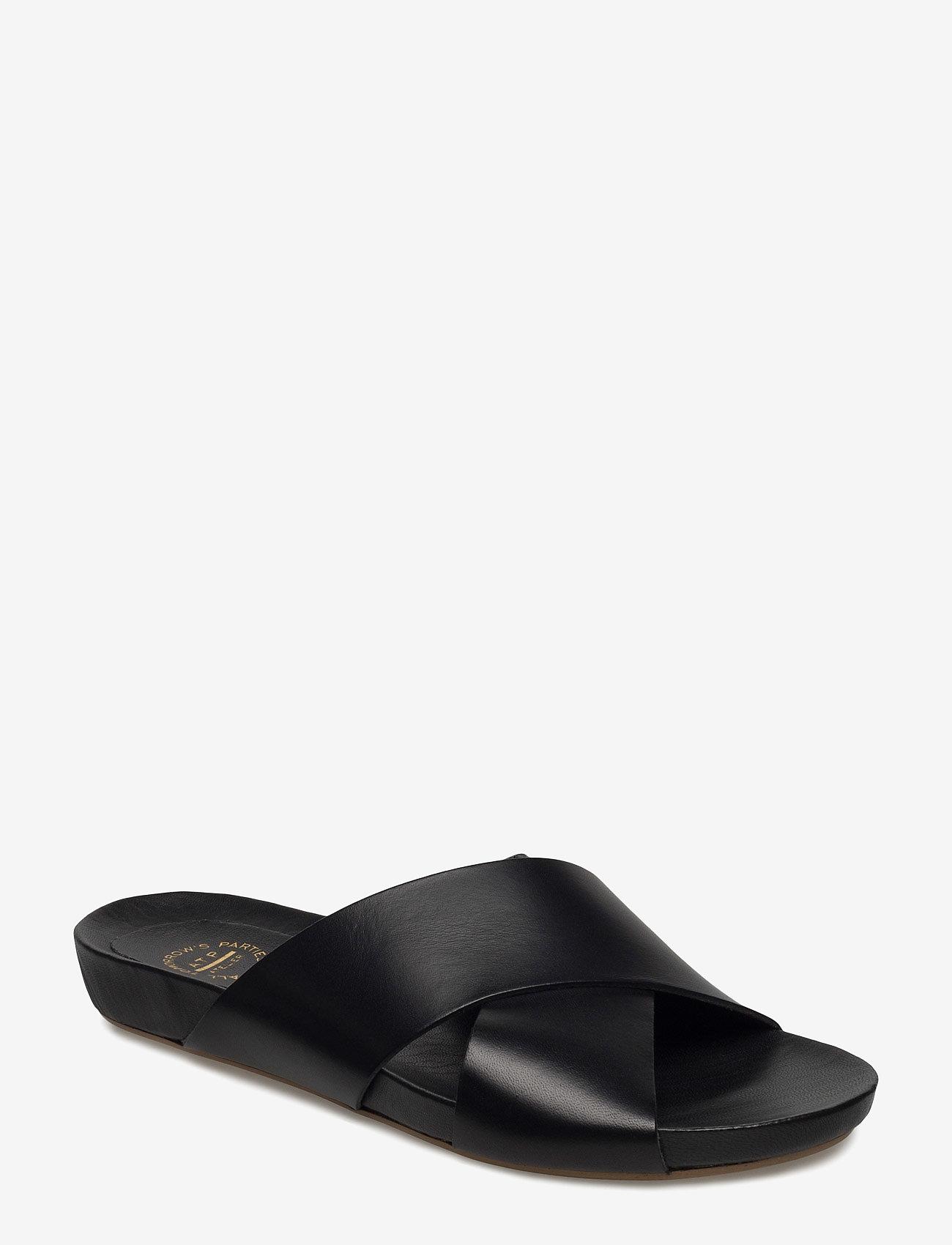 ATP Atelier - Doris Black Vacchetta - platta sandaler - black - 0
