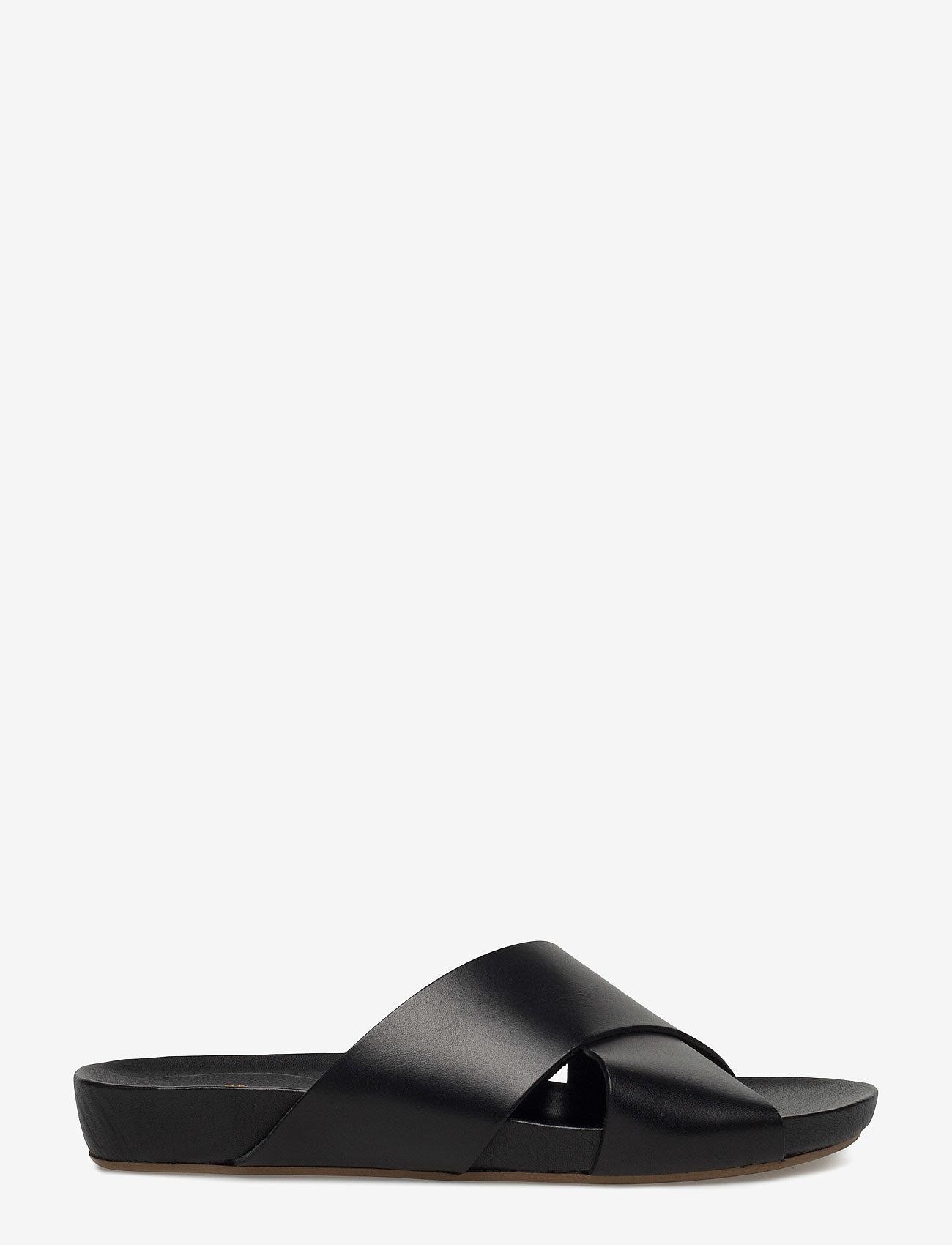 ATP Atelier - Doris Black Vacchetta - platta sandaler - black - 3