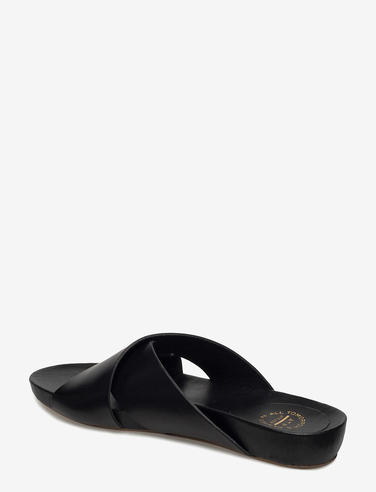 ATP Atelier - Doris Black Vacchetta - platta sandaler - black - 1
