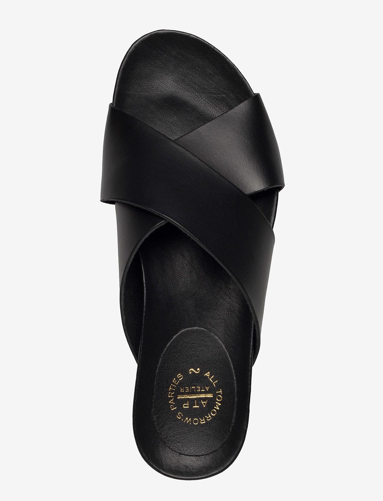 ATP Atelier - Doris Black Vacchetta - platta sandaler - black - 4