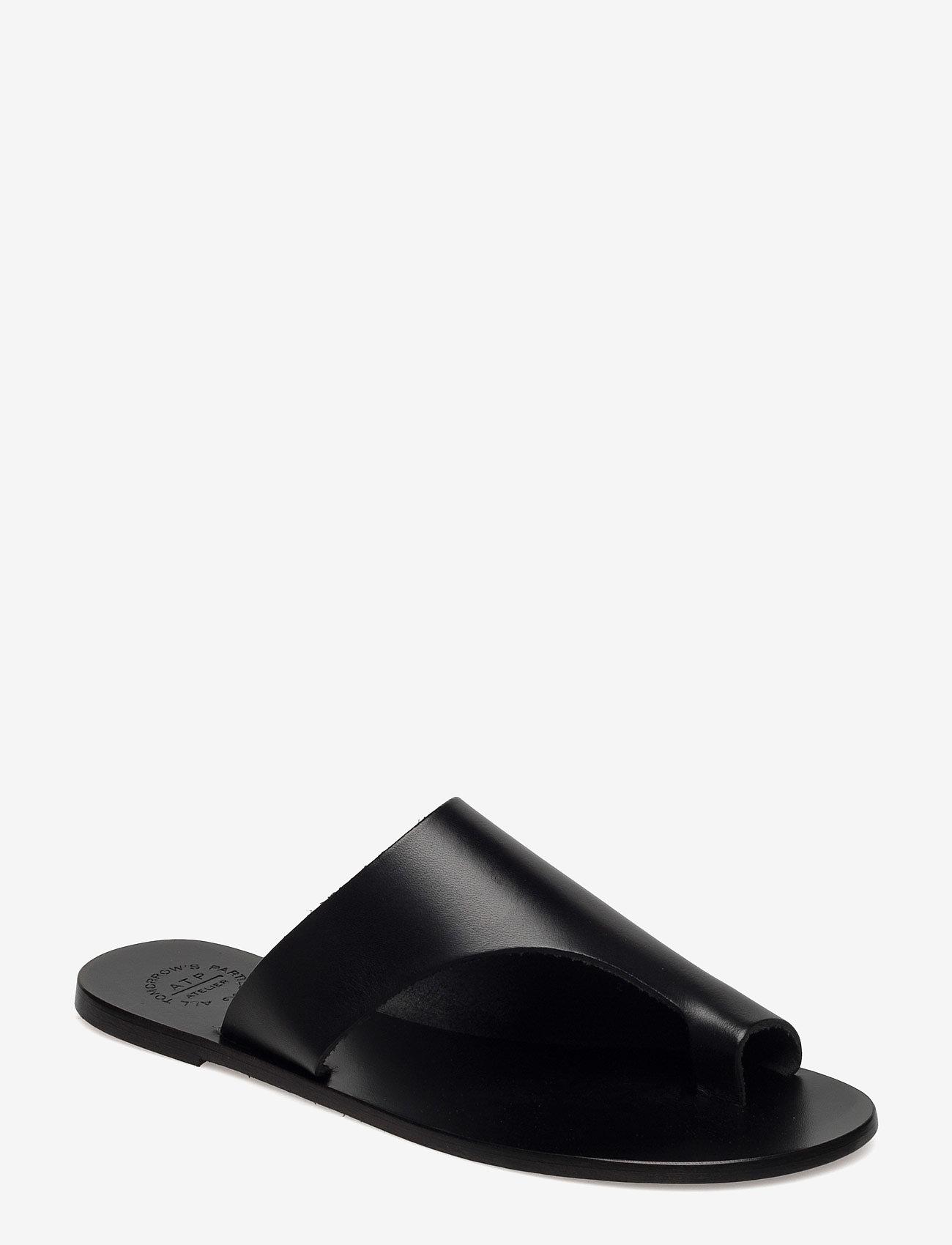 ATP Atelier - Rosa Black Vacchetta - flat sandals - black - 0