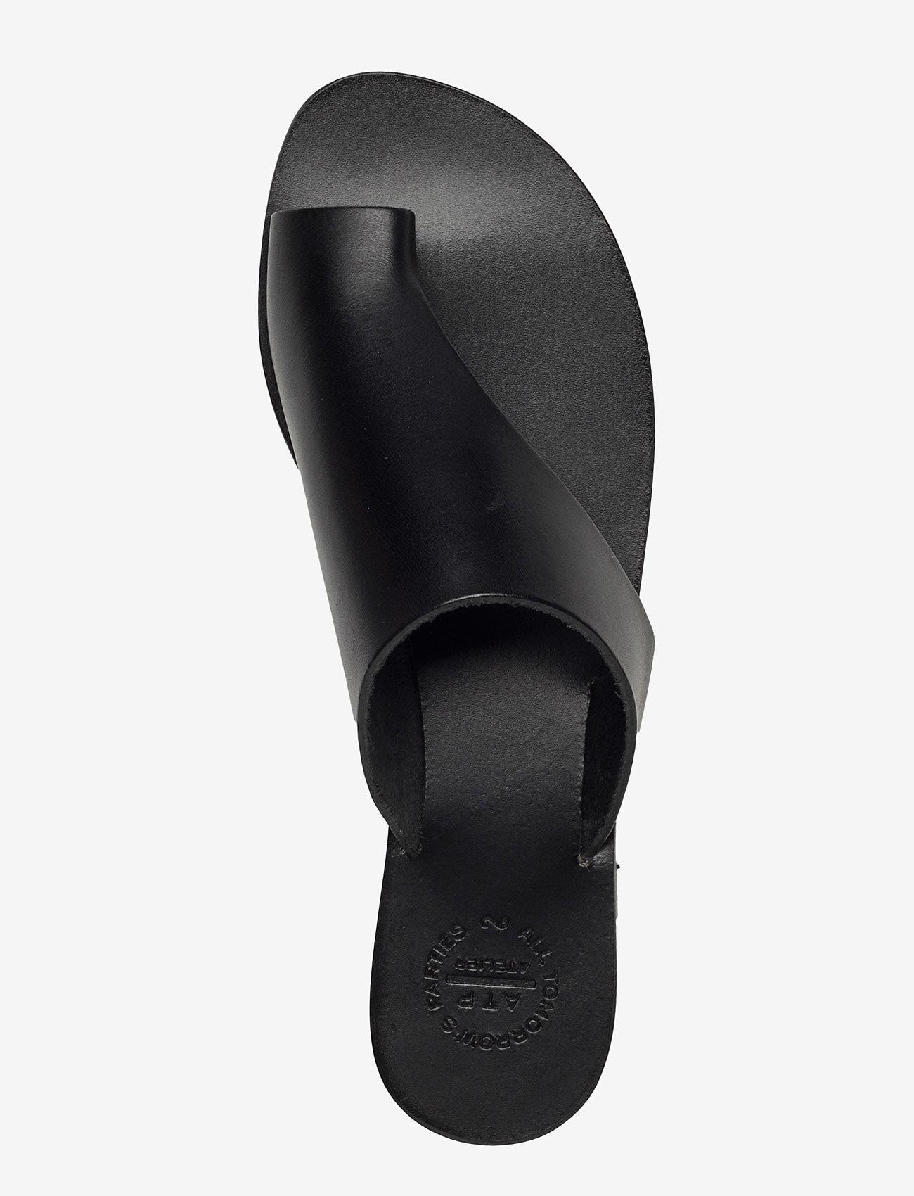 ATP Atelier - Rosa Black Vacchetta - flat sandals - black - 4