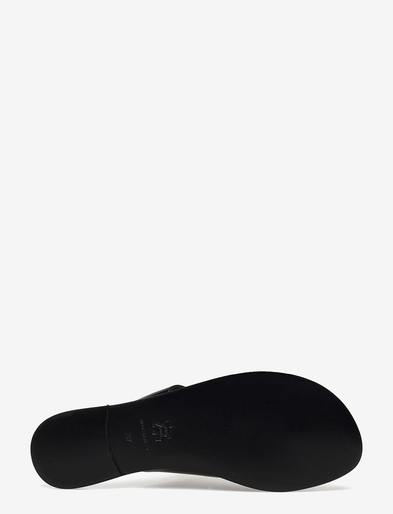 ATP Atelier - Rosa Black Vacchetta - flat sandals - black - 3