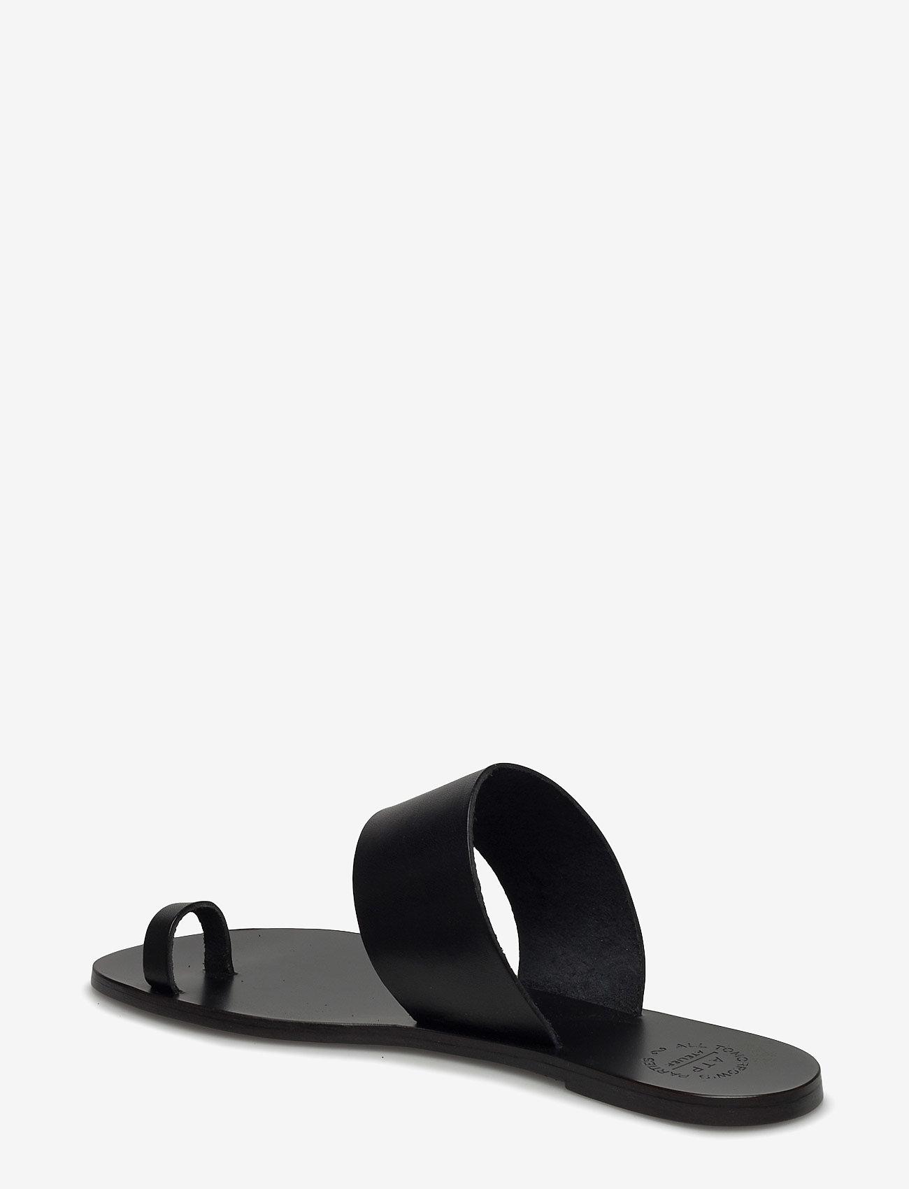 ATP Atelier - Astrid Black Vacchetta - płaskie sandały - black - 2