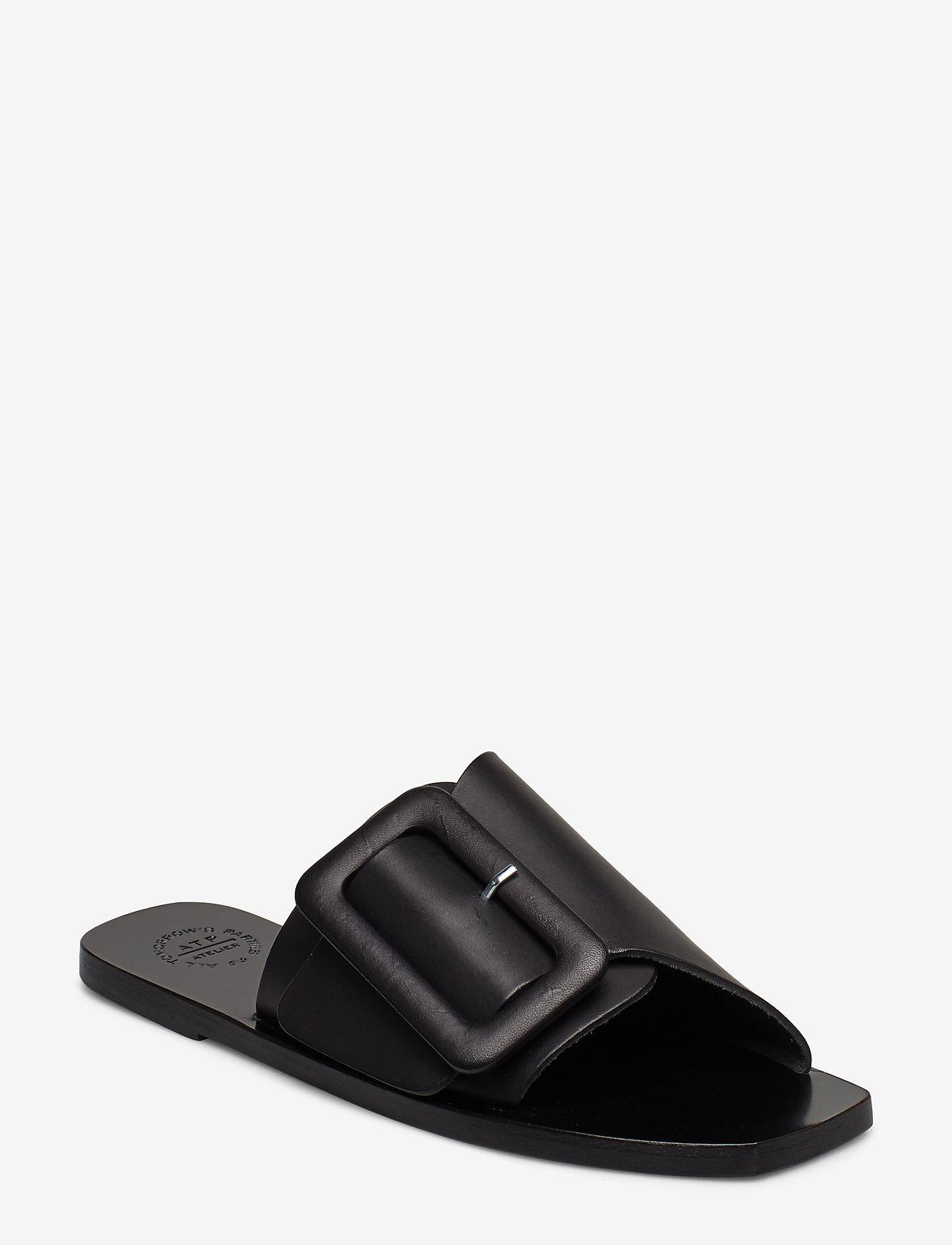 ATP Atelier - Ceci Black Vacchetta - płaskie sandały - black - 0