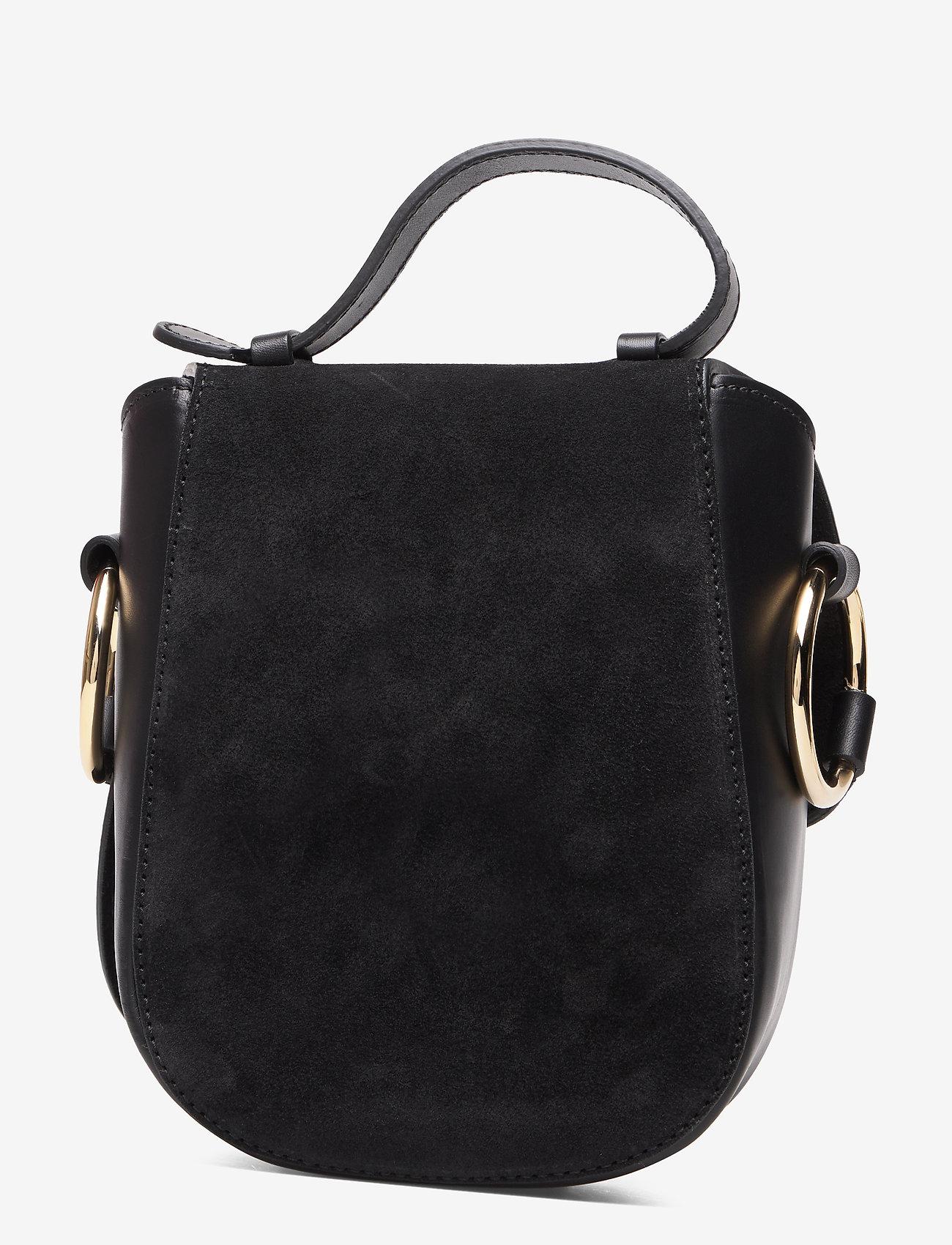 ATP Atelier - Carrara Black Suede/Vacchetta - shoulder bags - black - 1