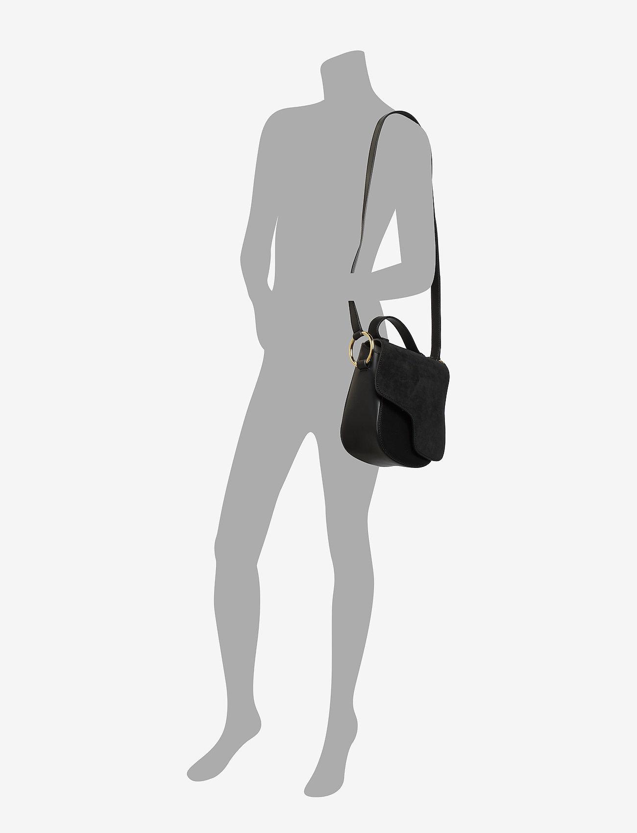 ATP Atelier - Carrara Black Suede/Vacchetta - shoulder bags - black - 5