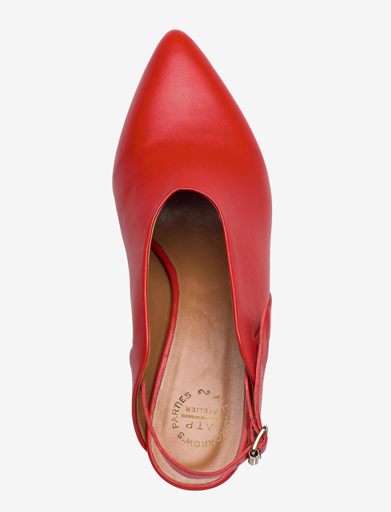 ATP Atelier - Abra Vacchetta - sling backs - tomato red - 3