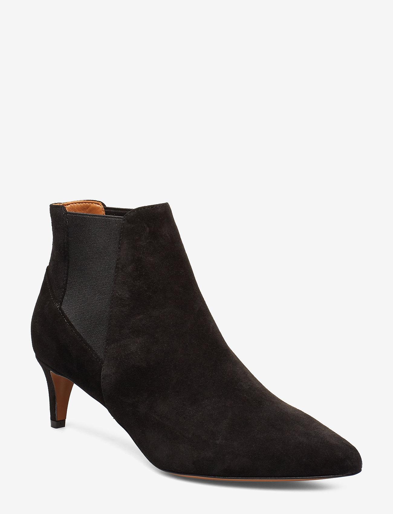 ATP Atelier - Cynara Suede - heeled ankle boots - black - 0