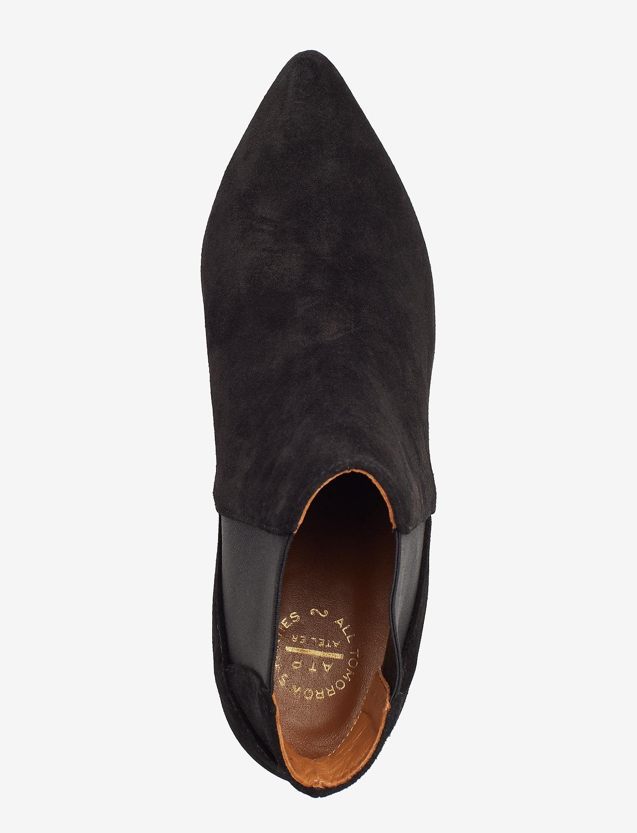 ATP Atelier - Cynara Suede - heeled ankle boots - black - 3