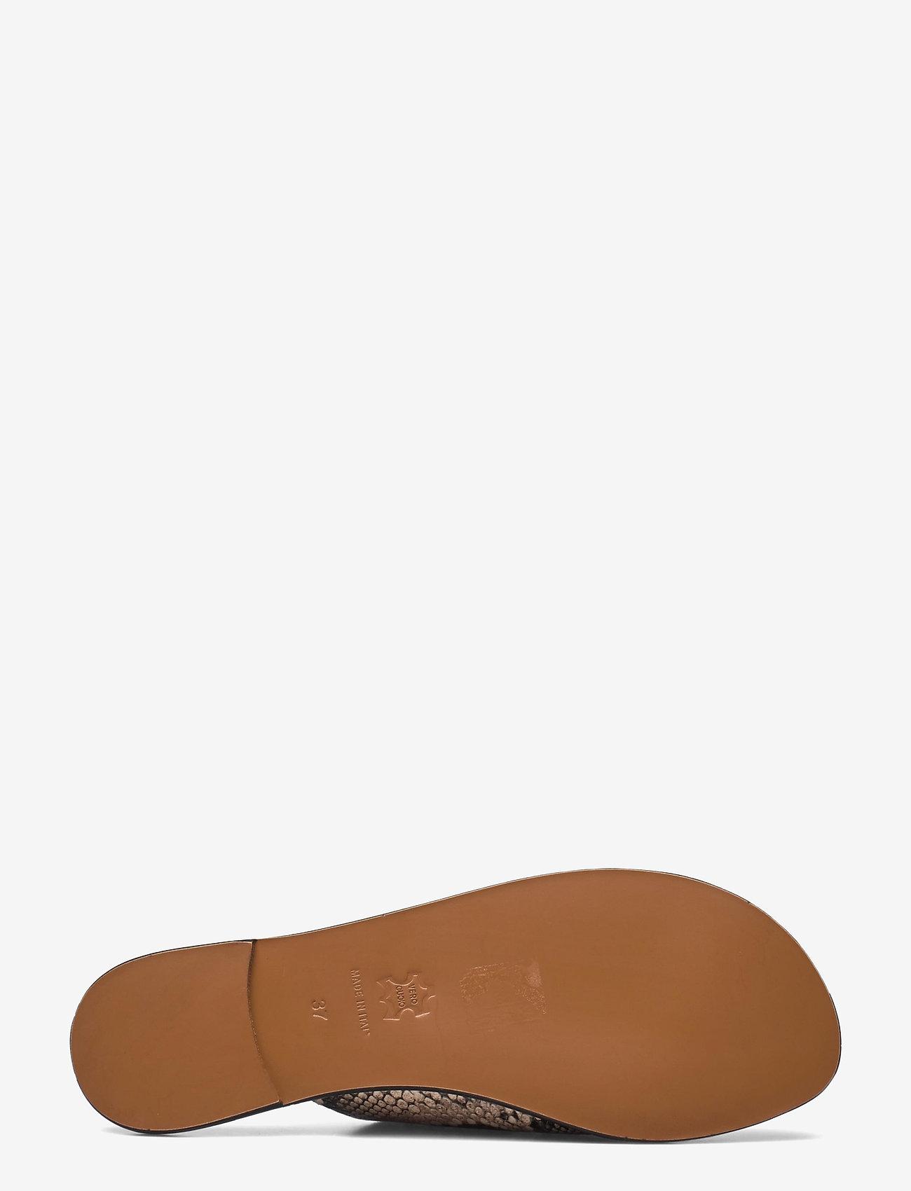 ATP Atelier - Rosa Beige Printed Snake - platta sandaler - beige - 4