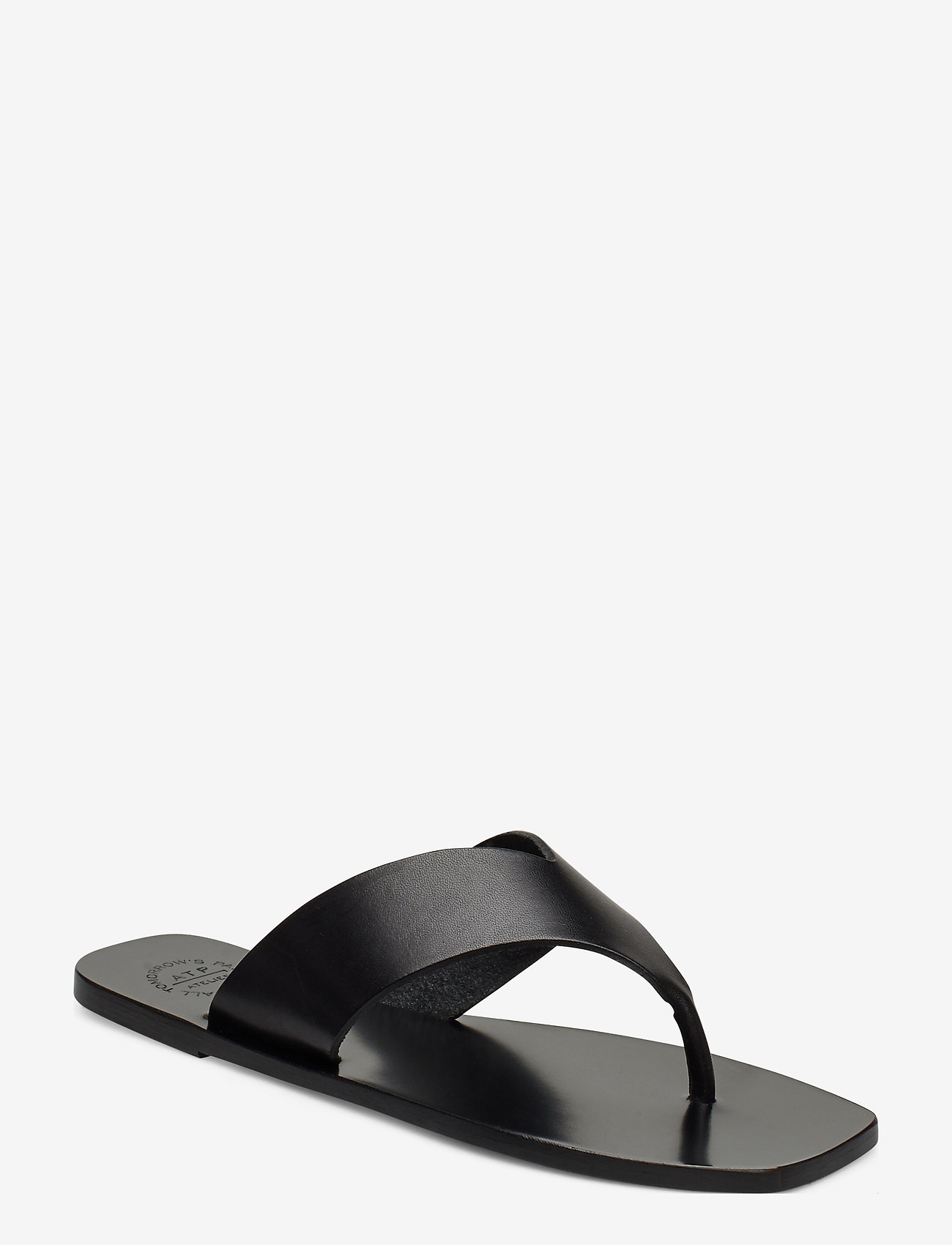 ATP Atelier - Merine Black Vacchetta - platta sandaler - black - 0