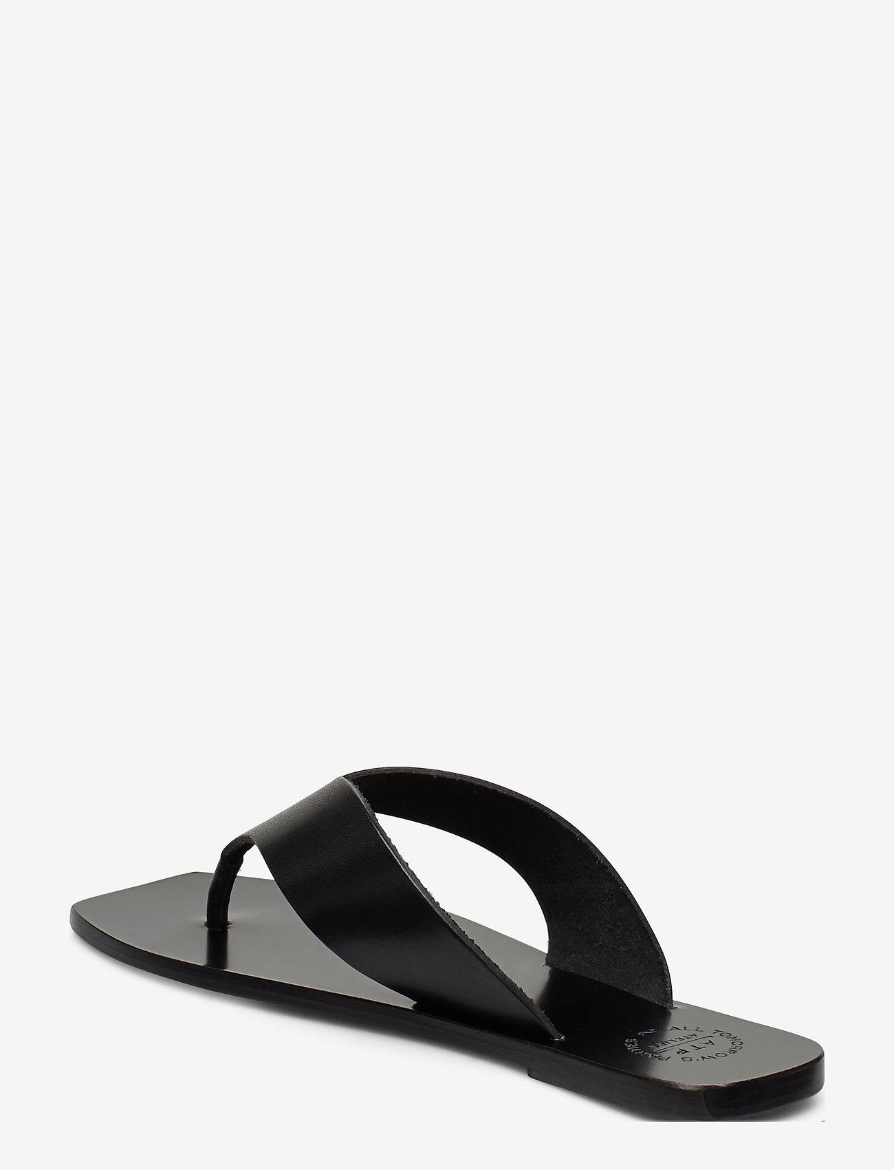 ATP Atelier - Merine Black Vacchetta - platta sandaler - black - 2