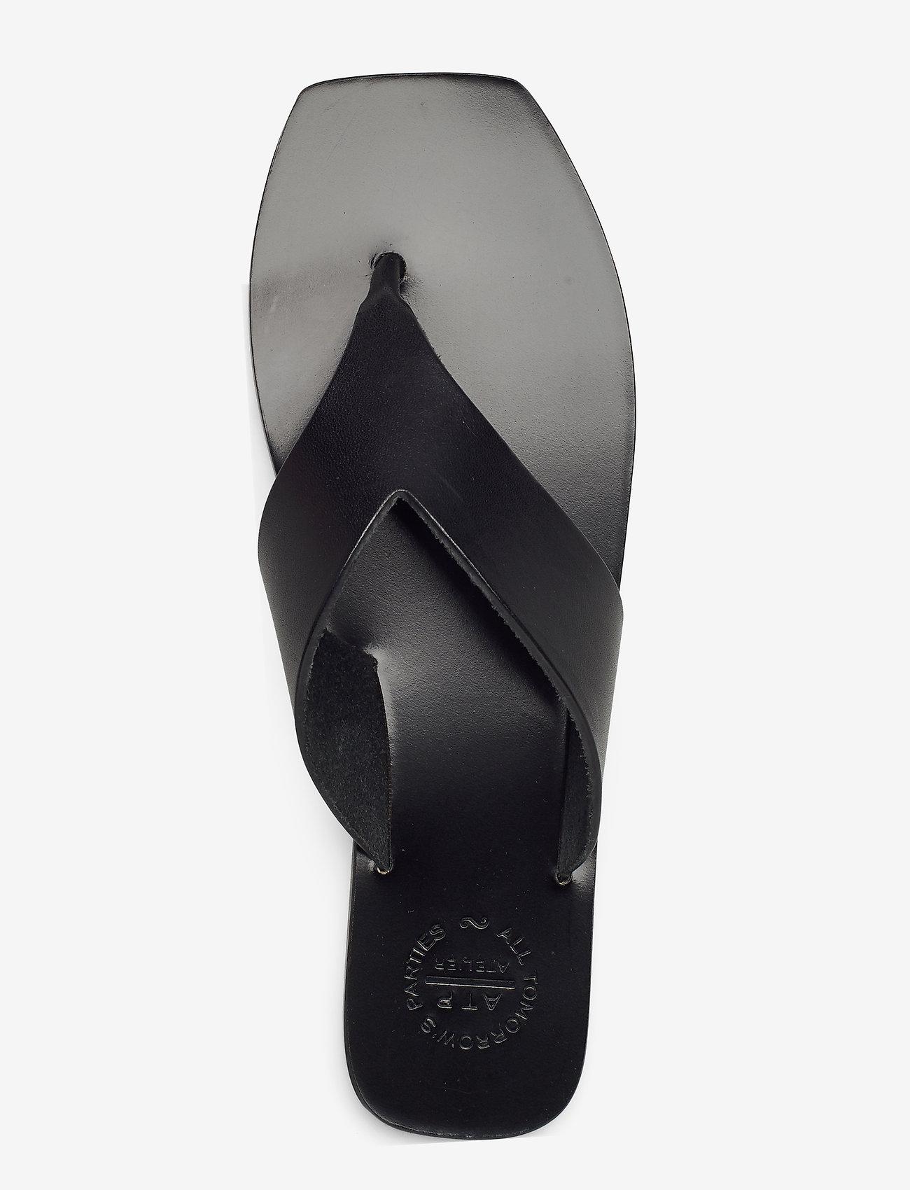 ATP Atelier - Merine Black Vacchetta - platta sandaler - black - 3