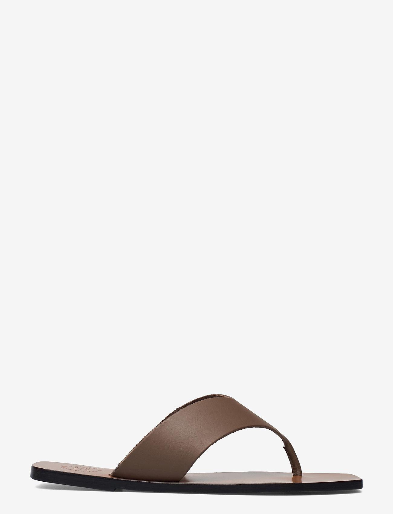 ATP Atelier - Merine Khaki Brown Vacchetta - platta sandaler - khaki brown - 1