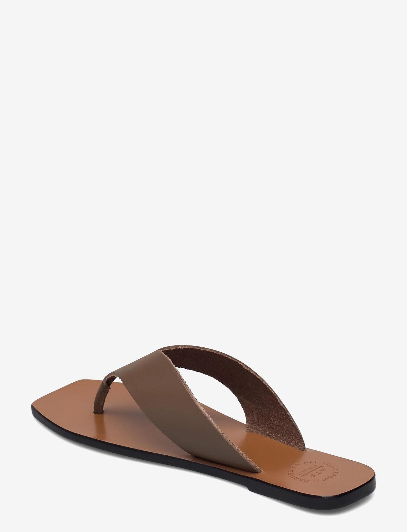 ATP Atelier - Merine Khaki Brown Vacchetta - platta sandaler - khaki brown - 2
