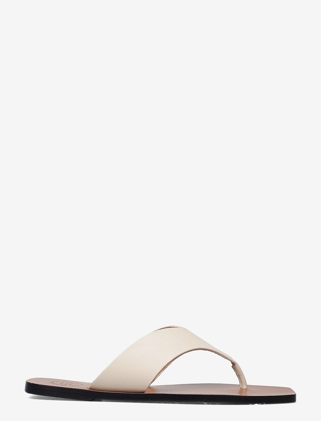ATP Atelier - Merine Ice White Vacchetta - flat sandals - ice white - 1