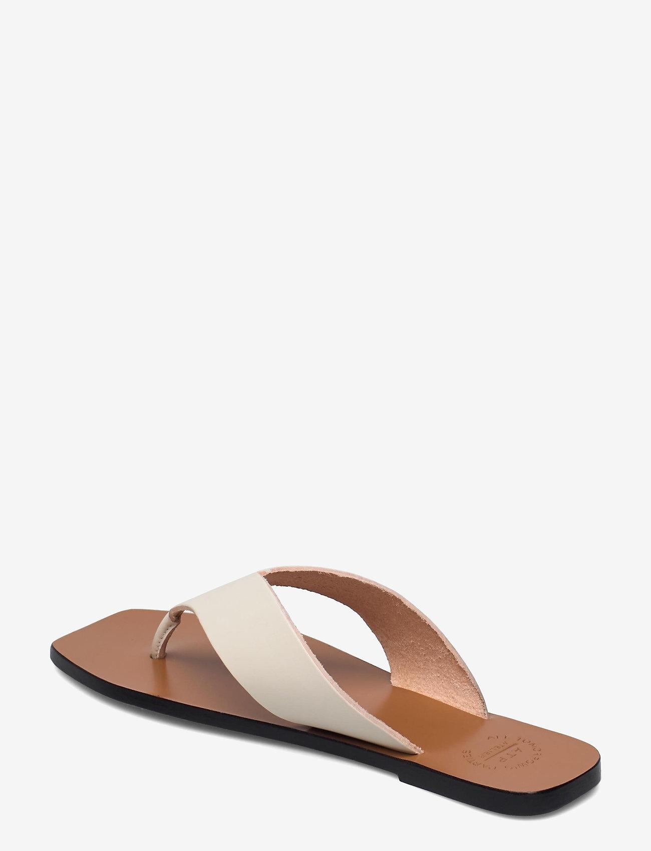ATP Atelier - Merine Ice White Vacchetta - flat sandals - ice white - 2