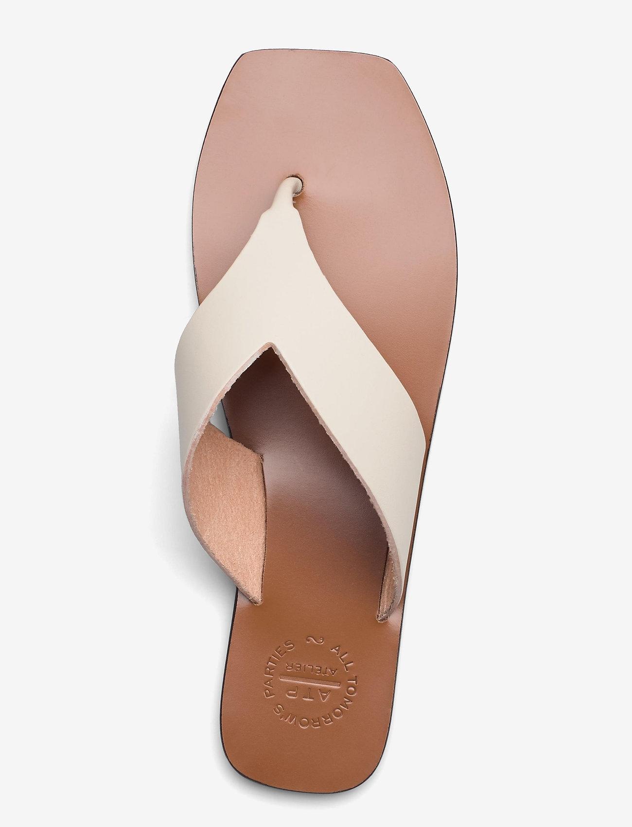 ATP Atelier - Merine Ice White Vacchetta - flat sandals - ice white - 3